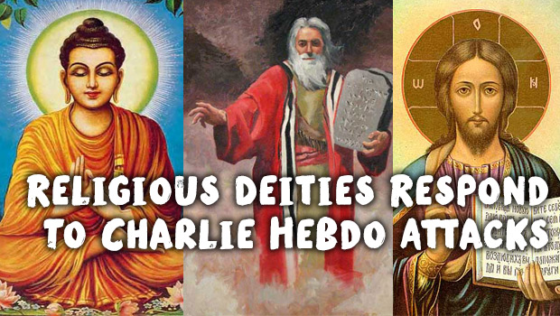 Religious Deities Respond To Charlie Hebdo Attacks