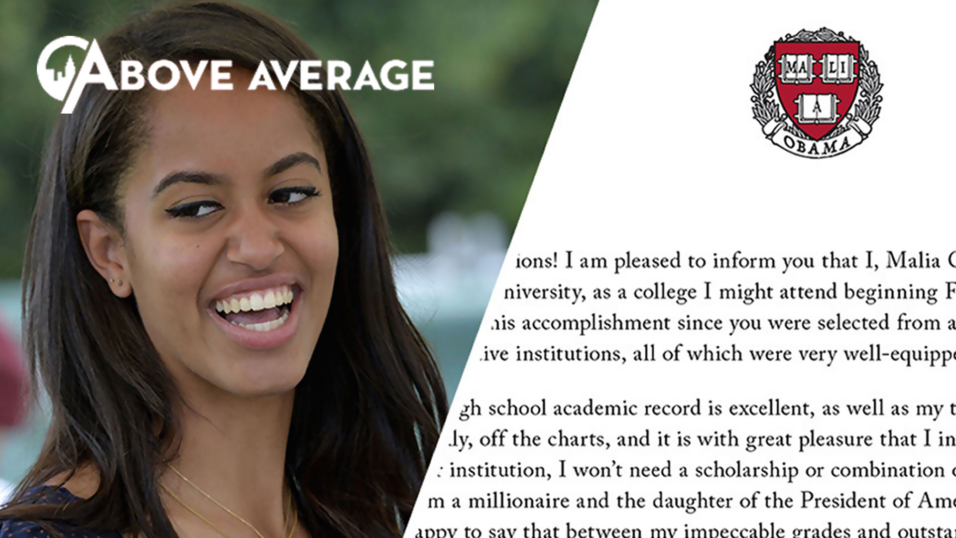 Malia Obama Sends Acceptance Letter to Harvard The Second City