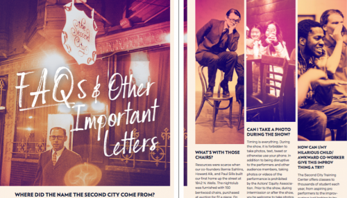 Explore Vol. IV of The Second City Playzine - The Second City
