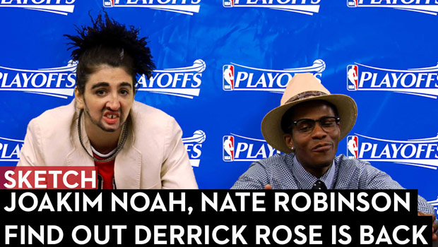 Joakim Noah, Nate Robinson Find out Derrick Rose is Back