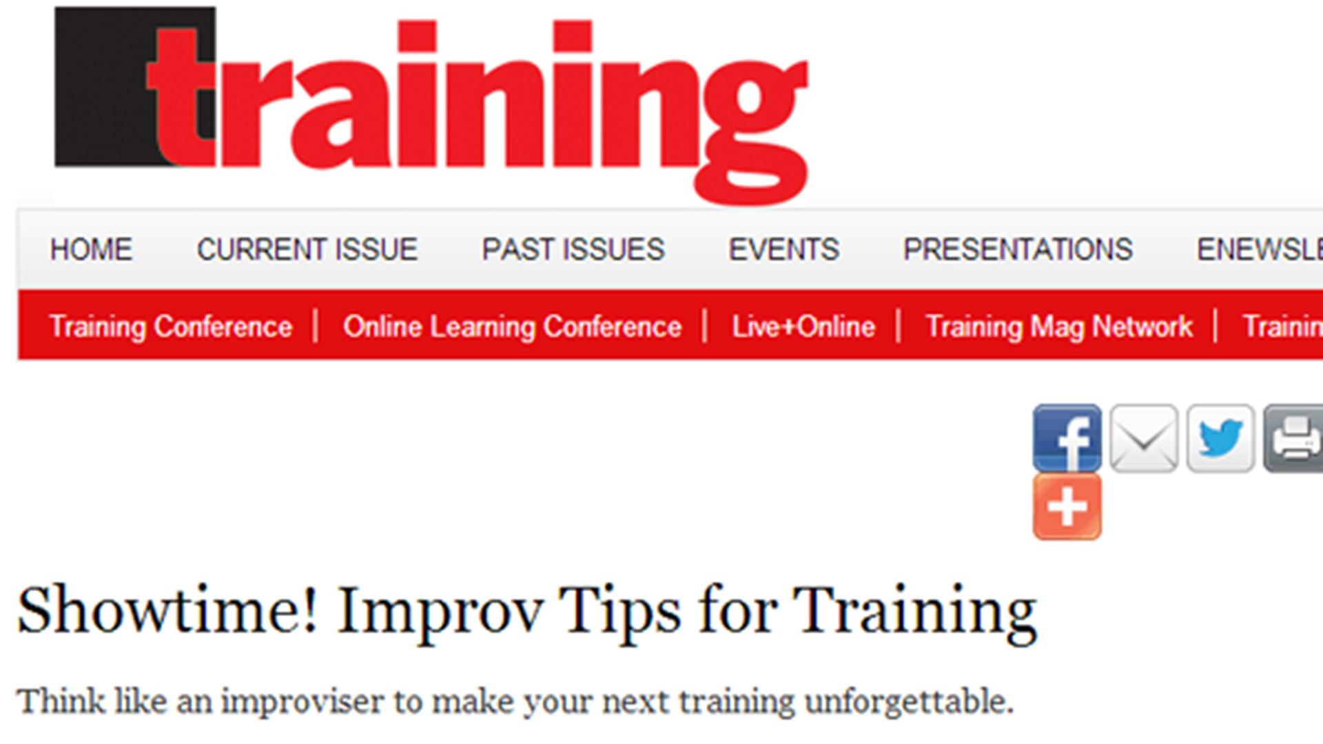 Improv Training Tips