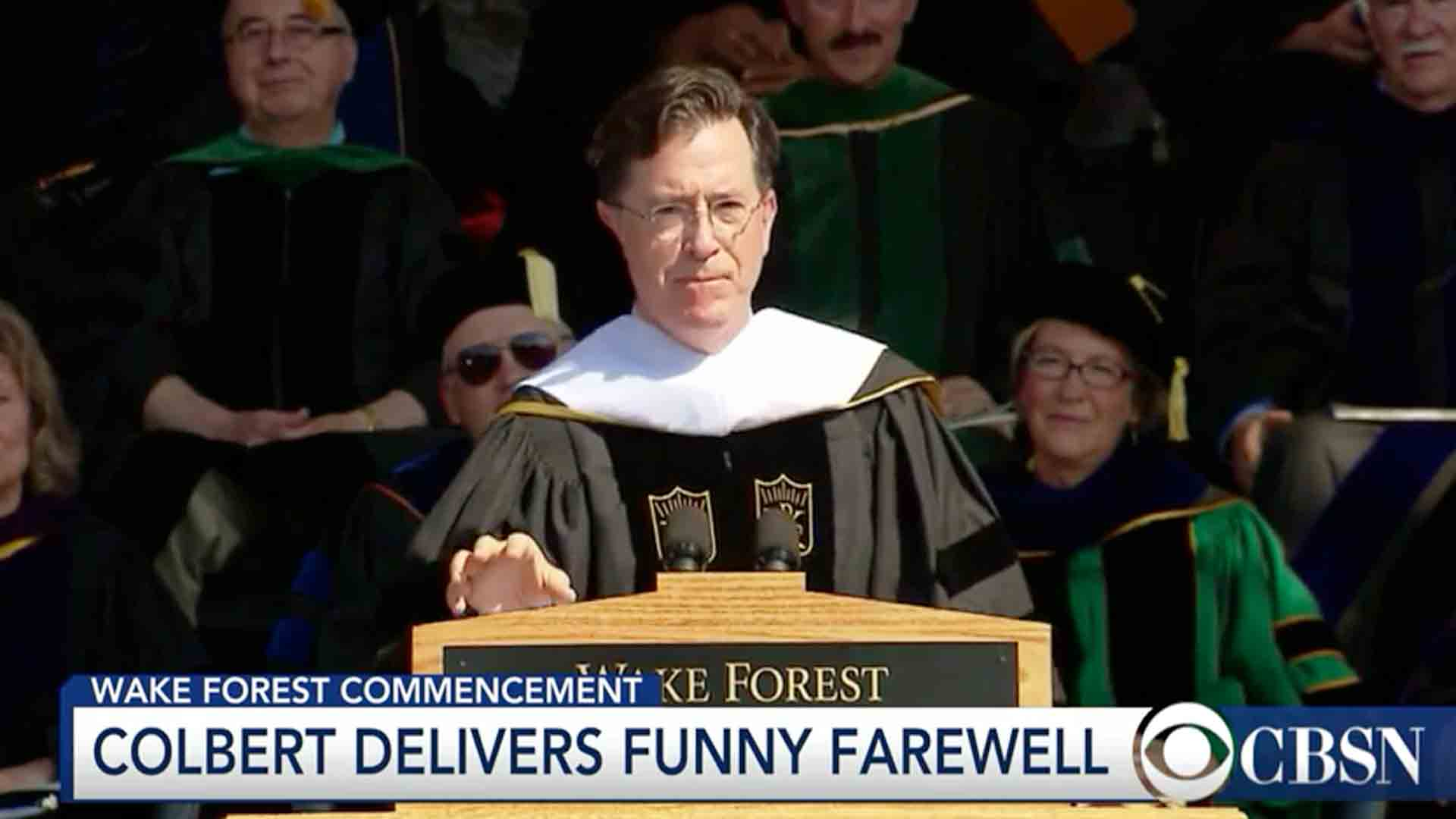Stephen Colbert's Commencement Address at Wake Forest University