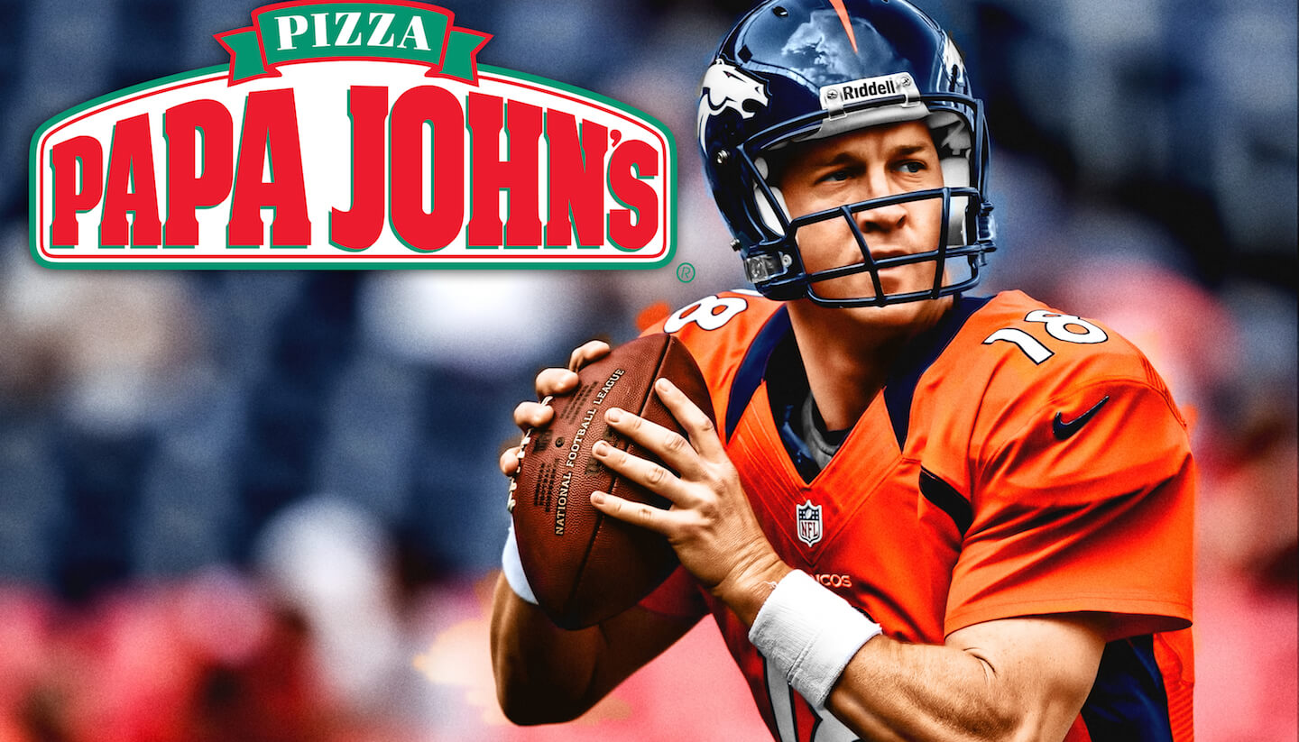 Let's All Make Peyton Manning's Past Disappear Just Like It's a Delicious Slice of Papa John's Pizza